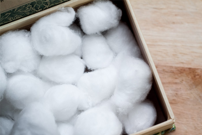 Dieta de bolas de algodon